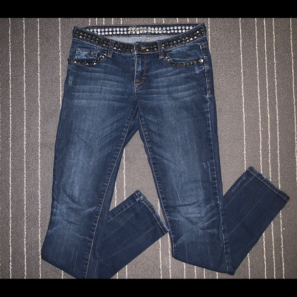 Flying Monkey Denim - Flying Monkey studded skinny jeans SZ 27